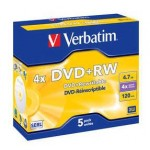 43229 KIT 5 DVD+RW 4.7GB/120\' 4X VE