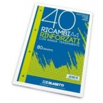 RICAMBI A4 BIANCO LISCIO 40FF